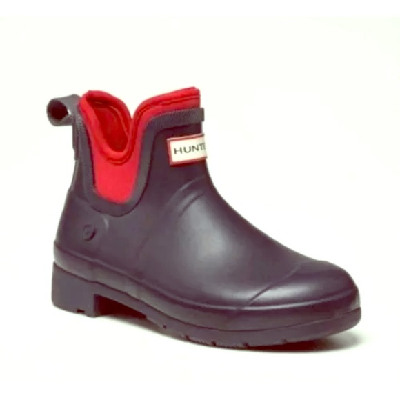 78012a40ed9 Hunter Size 6 Short Ankle Rainboot Navy Blue Red